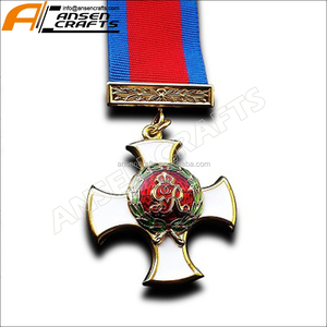 Custom ww1 high class imitation hard enamel George V army military award British Commonwealth medal with ribbon