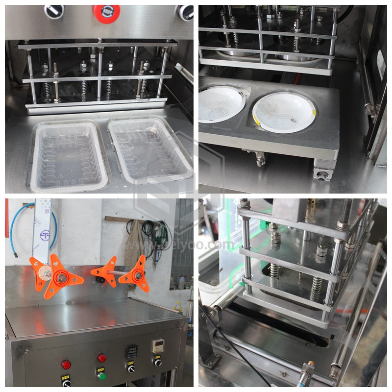Popular snack healthy food map packaging gas mixtures take away container sealer machine