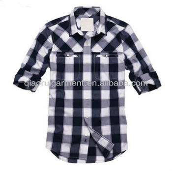af5d61f1d mens funky design big plaid/check casual shirts with button-down collar and  two