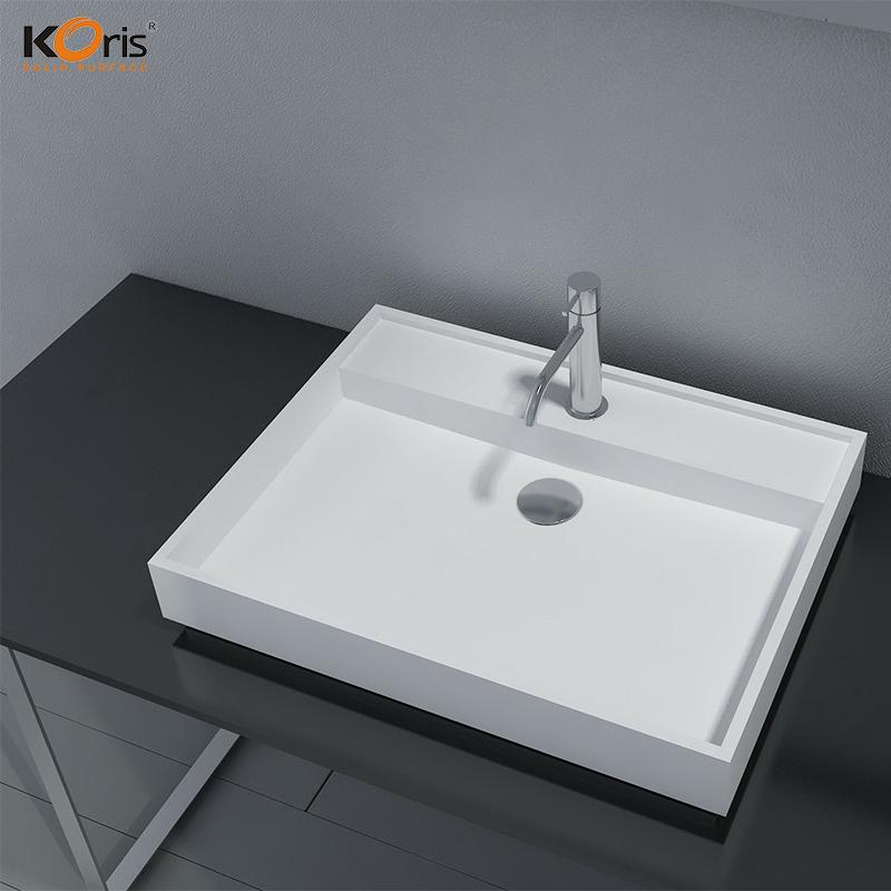 Acrylic Bathroom Sink Wash Basin