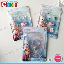 Fashion jewelry set for kids with cpp packing