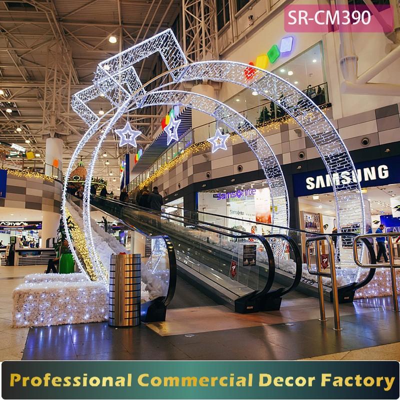 Christmas Decorations In Shopping Malls: Custom Commercial Christmas Shopping Mall Escalator