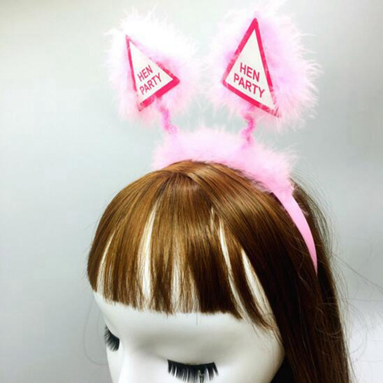Bachelorette party feather cloth plastic headbands night hen party bride to be headband