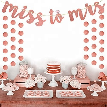 Easternhope Rose Gold Bachelorette Party Decorations Miss To Mrs Banner  Glitter Wedding Bridal Shower Party Supplies 719d958f9ef6