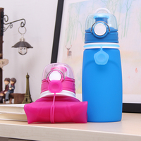 BPA Free Reusable Private Label Collapsible Sport Silicone Foldable Water Bottle
