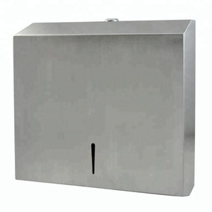 Satin finishing hanging 304 stainless steel paper towel holder / hand towel dispenser