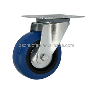 80mm rubber swivel caster wheels for scaffold and industry wheel