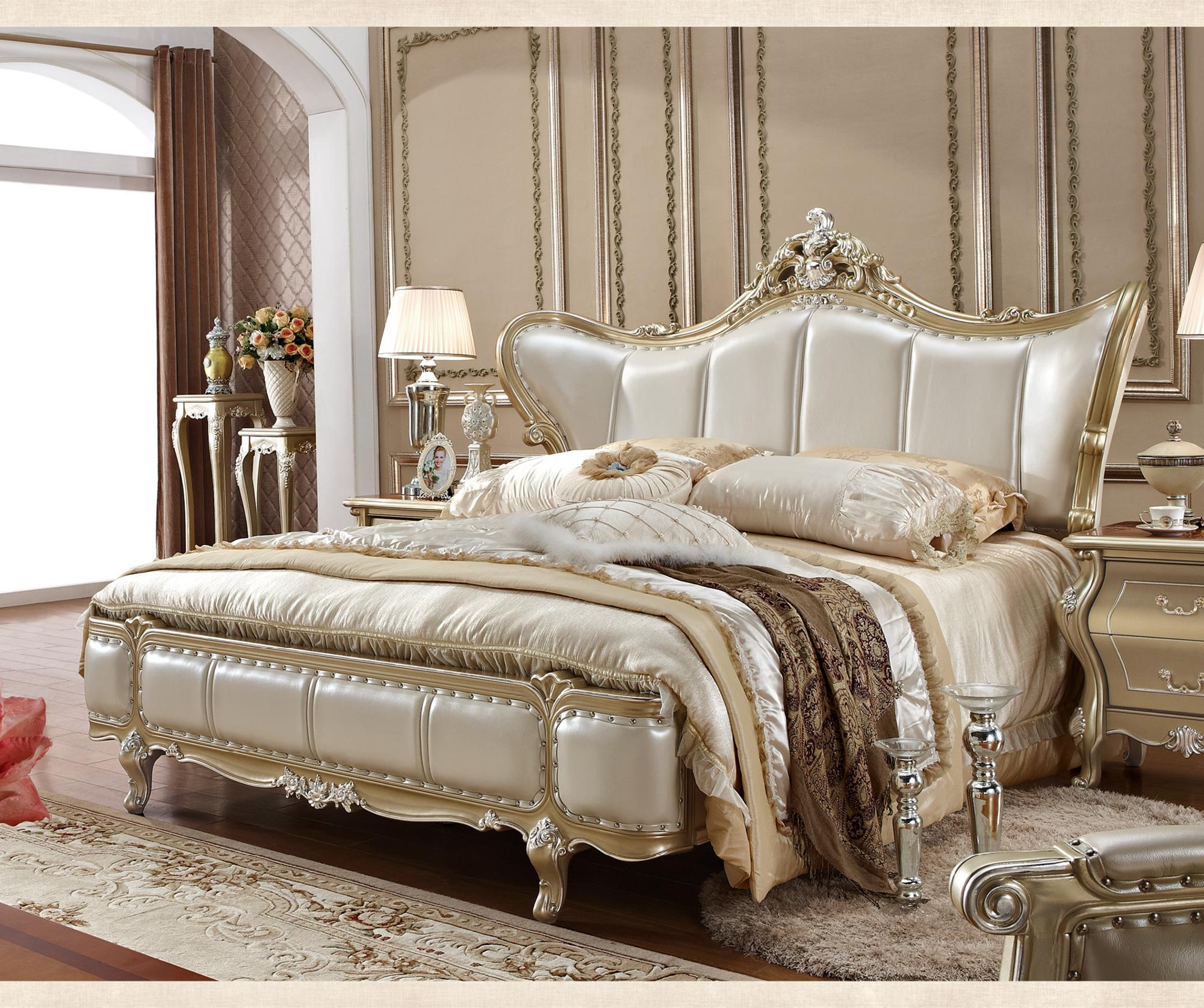 Elegant China Factory Antique Style King Size Bedroom ...