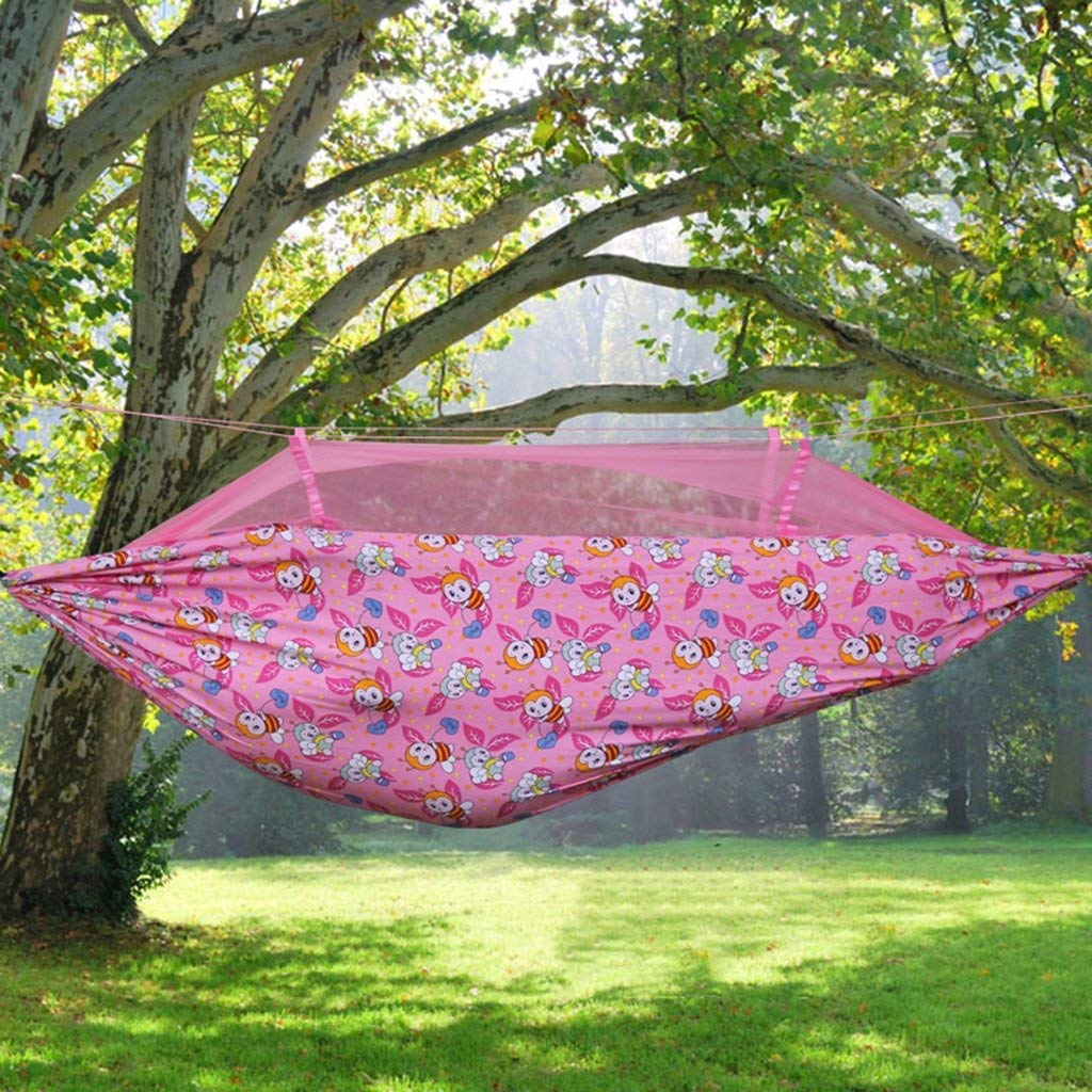 Ren Chang Jia Shi Pin Firm Canvas hammock with mosquito nets Outdoor swing cantilever lift chairs
