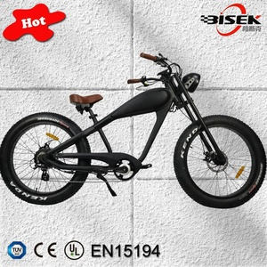 large wheels electric chopper bicycle 26*4.0 fat tyre