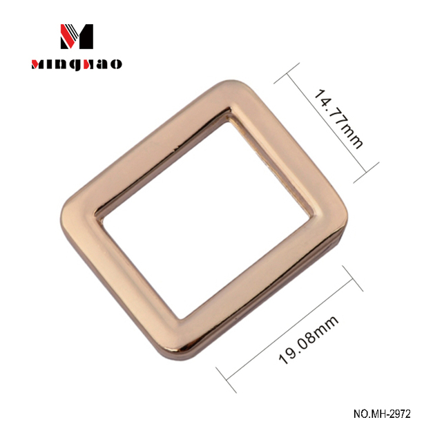 Bag accessory hardware square ring metal buckles,nickel free zinc alloy square buckle for handbag