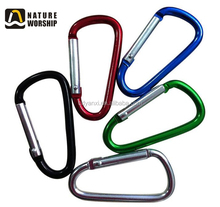 Stainless Aluminum Alloy Custom Keychain Carabiner Clips, Wholesale Locking Carabiner Keyrings