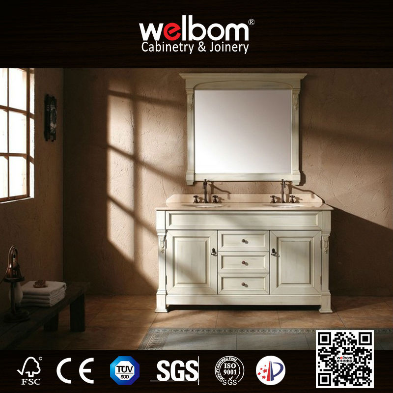 Best Quality White Custom Pvc Bathroom Wash Basin Cabinet