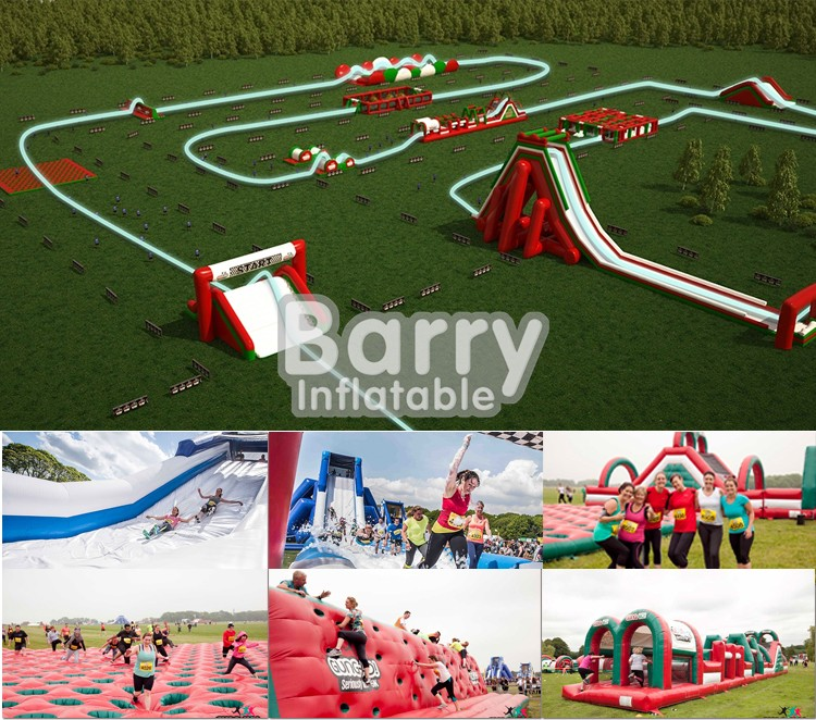 New Design Crazy 0.55 PVC Red Inflatable 5K Run Race For Adults
