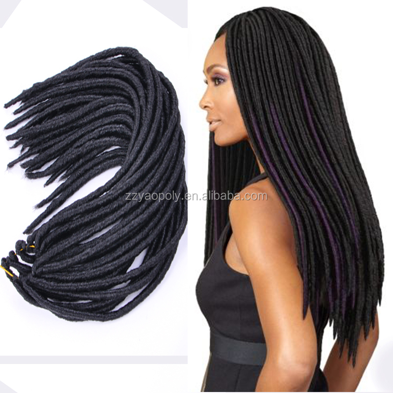 "The Fastest And Easiest Faux Locs 18"" 100g/pack Janet Collection 2X Havana Mambo Twist Dread Faux Locs Braids"