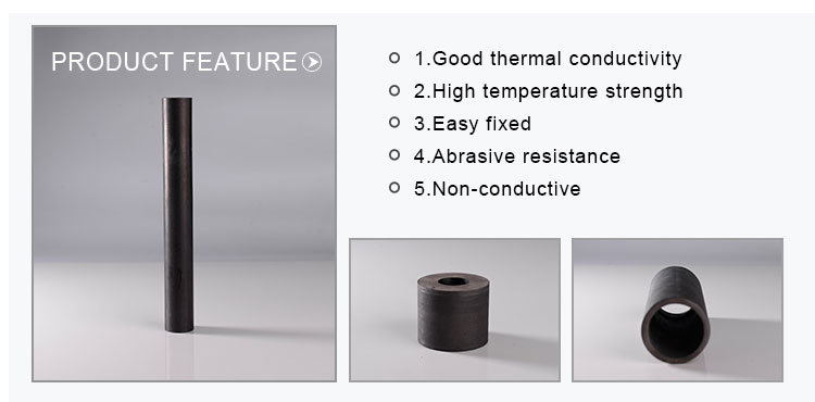Si3n4 सिलिकॉन नाइट्राइड संबंध हिज्जे सिलिकॉन कार्बाइड thermocouple संरक्षण सिरेमिक ट्यूब