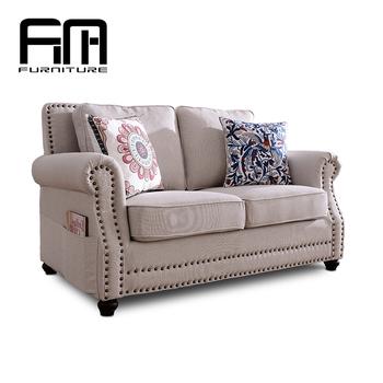 Neue Design Moderne Wohnzimmer Weiße Leinenstoff 7 Sitzer Sofa Set