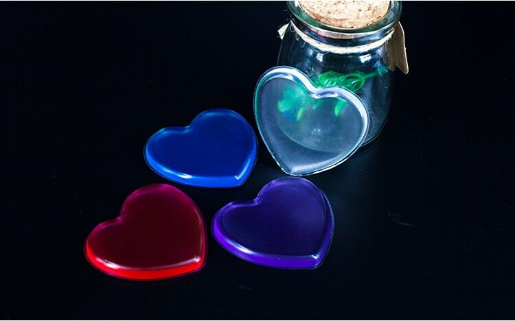 Round Circle Shaped Transparent 100% cosmetic Puff Pure Silicone Makeup Sponge Cosmetic Puff