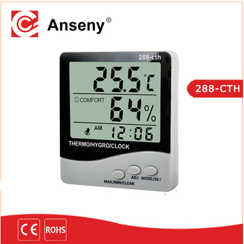 Top Quality Digital Household Tabletop Thermometer And Hygrometer With Min  Max Humidity Indoor Wall Clock Digital