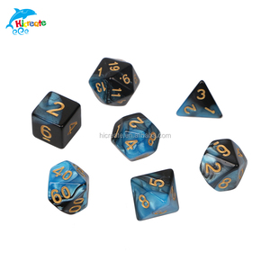 mixed coloured dice costom game dice set of d4 d6 d8 d10 d12 and so on
