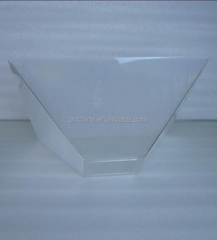 acl099 pyramid acrylic lampshade by 45 degree light cover rectangle