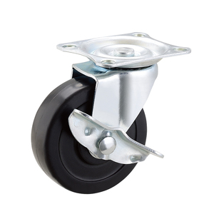 2 Inch Soft Rubber 80 lbs Load Per Wheel Swivel Caster Friction Ring Stem swivel office chair caster