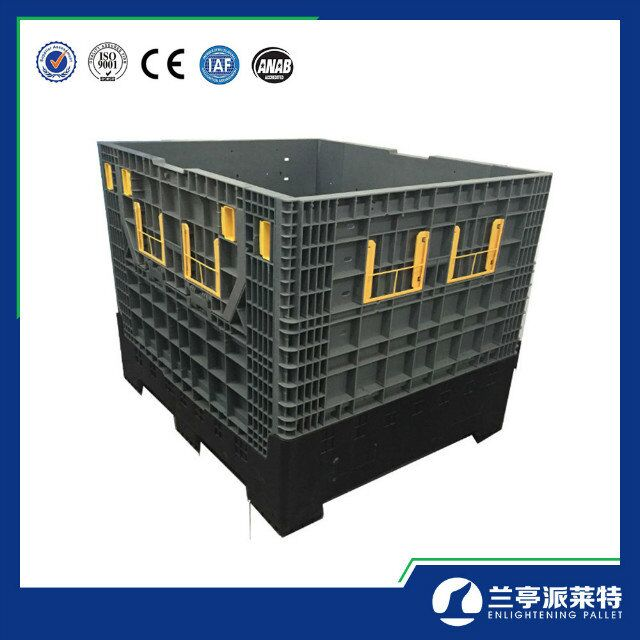 Heavy duty industrial plastic Collapsible Pallet Boxes manufacturer