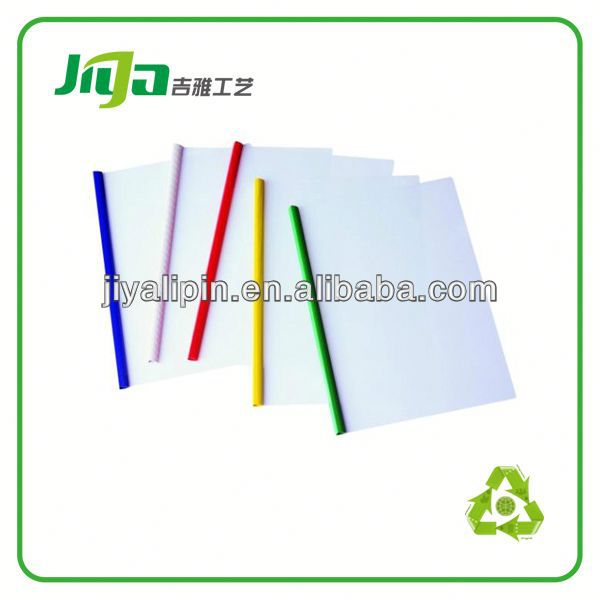 a4 clear plastic sliding bar file folder/clip stationery