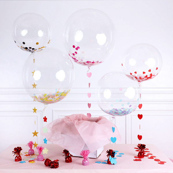 Customize PVC 10inch 18inch 24inch Round Mylar Transparent bubble Balloons