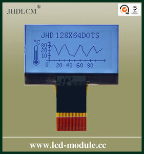 Backlight Small Lcd Display with good viewing angle JHD12864-G06BTW-BW-3