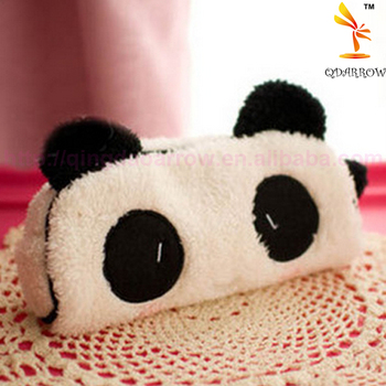 Cute Kawaii Plush Panda Animal Shaped Pencil Case Large Capacity School Supplies Noverty Item For Kids Pencil Bag