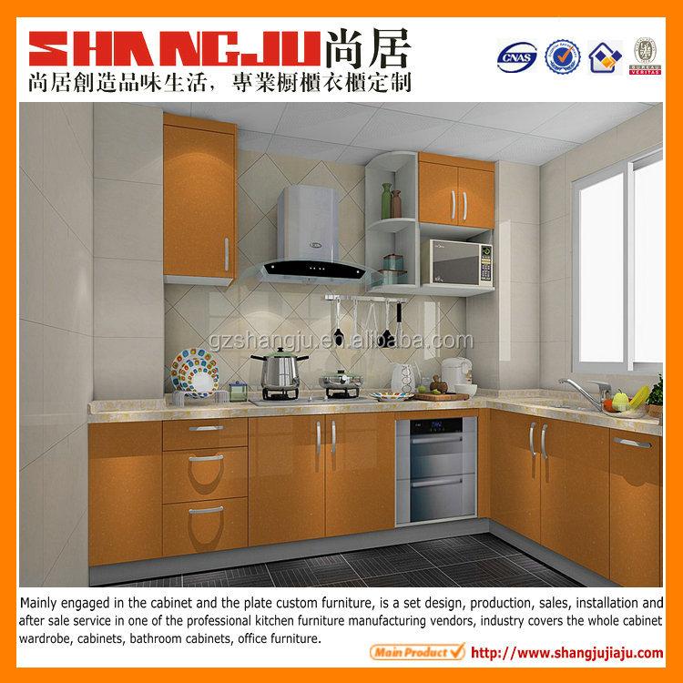 Oranje kleur l vorm kleine keuken kast keuken kasten product id ...