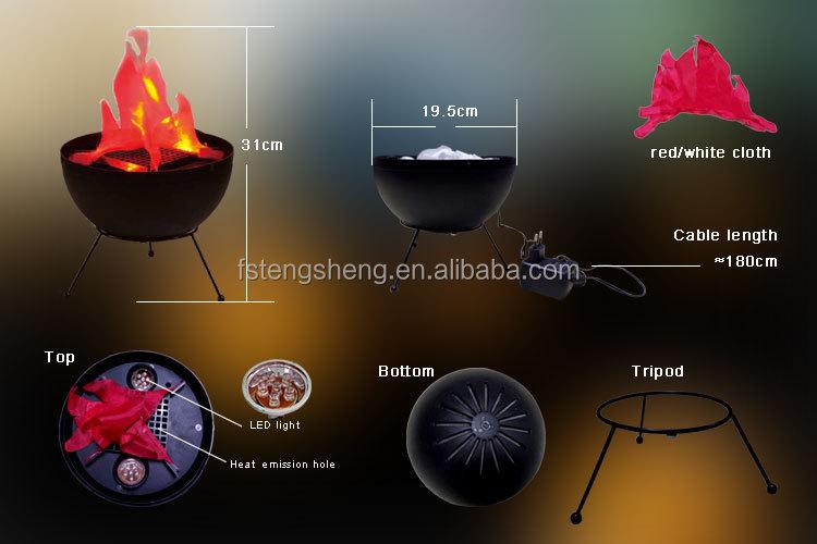 AFX LED Flame Machine Silk Fake Fire DJ Disco Effect