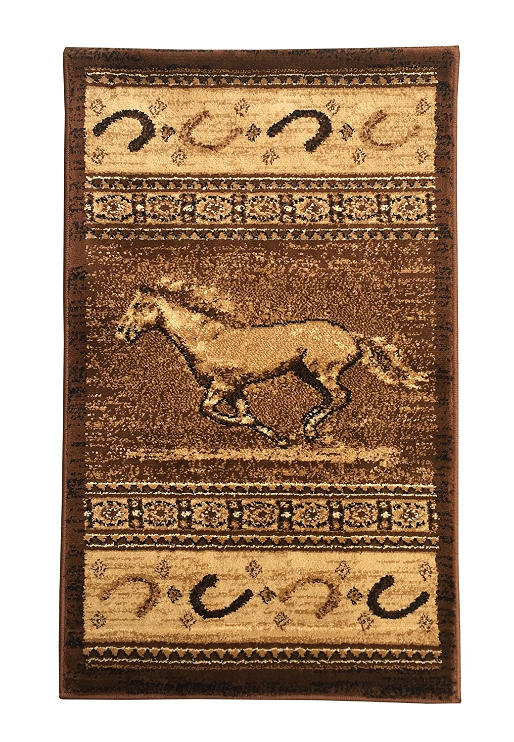 Get Quotations Rugs 4 Less Collection Horse Cowboy Western Cabin Style Lodge Door Mat Area Rug Design R4l
