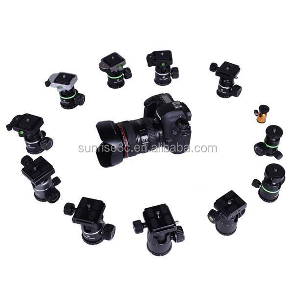 Sunrise Camera Tripod Ball Head Mount 1/4 Screw with Quick Release Plate