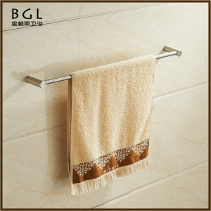 14724 wholesale Stainless Steel Bathroom Accessories Single Towel Bar Bathroom heated nickel brush Towel bar