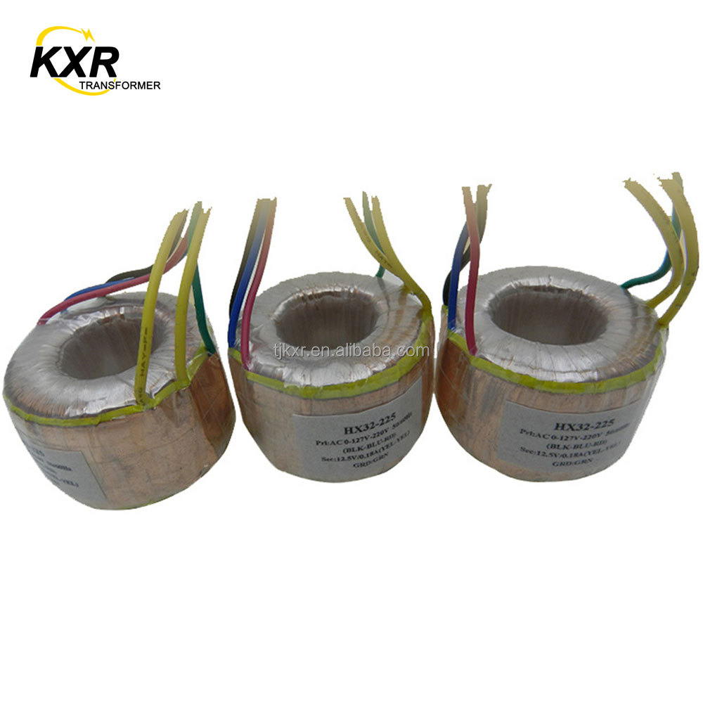 CE ROHS Free samples Electronic Ring Transformer For Radio, Small Size Transformer Toroidal Audio