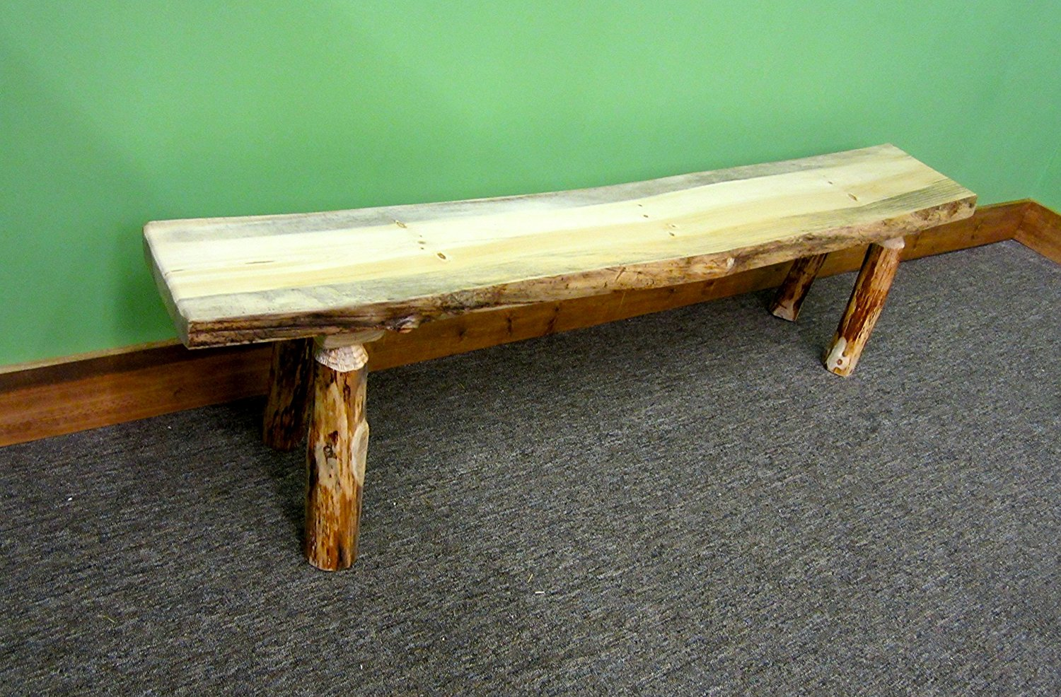 Midwest Log Furniture Rustic Bench