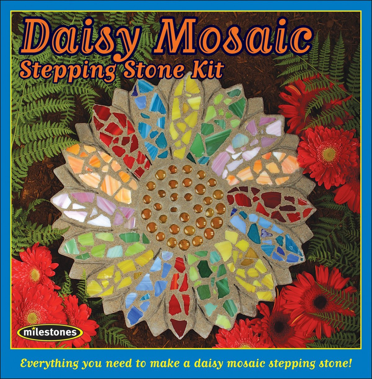 705d76c41c84 Get Quotations · Brand New Mosaic Stepping Stone Kit-Daisy Brand New