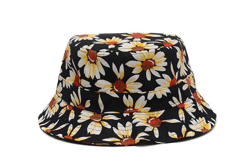 2015 New Fashion Bucket Hats Summer Style Floral Sun Hats ...
