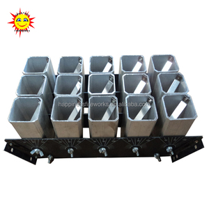 "Liuyang Happiness 2"" 15 shots aluminum single shot display rack for fireworks display"