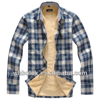 b04442f8a9d9b OEM de Invierno Caliente hombre lana a cuadros Camisa de franela de  servidumbre de camisas