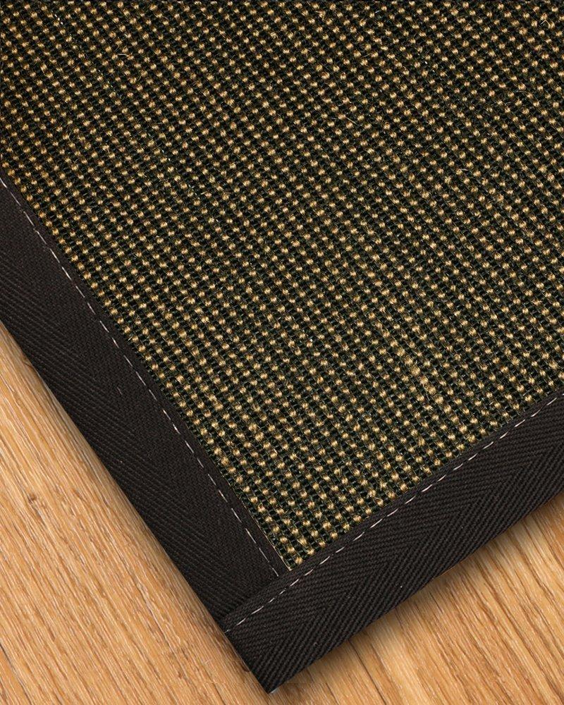 bcm mats rug custom rugs mat sisal large area black natural lapped p oslo