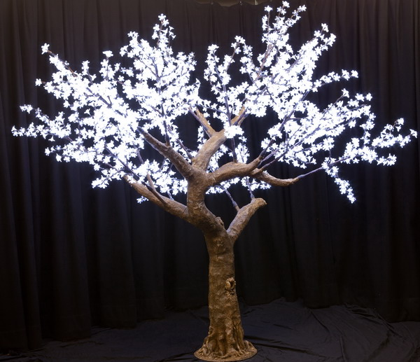 Outdoor Artificial Lighted Trees, Led Lighted Cherry Trees