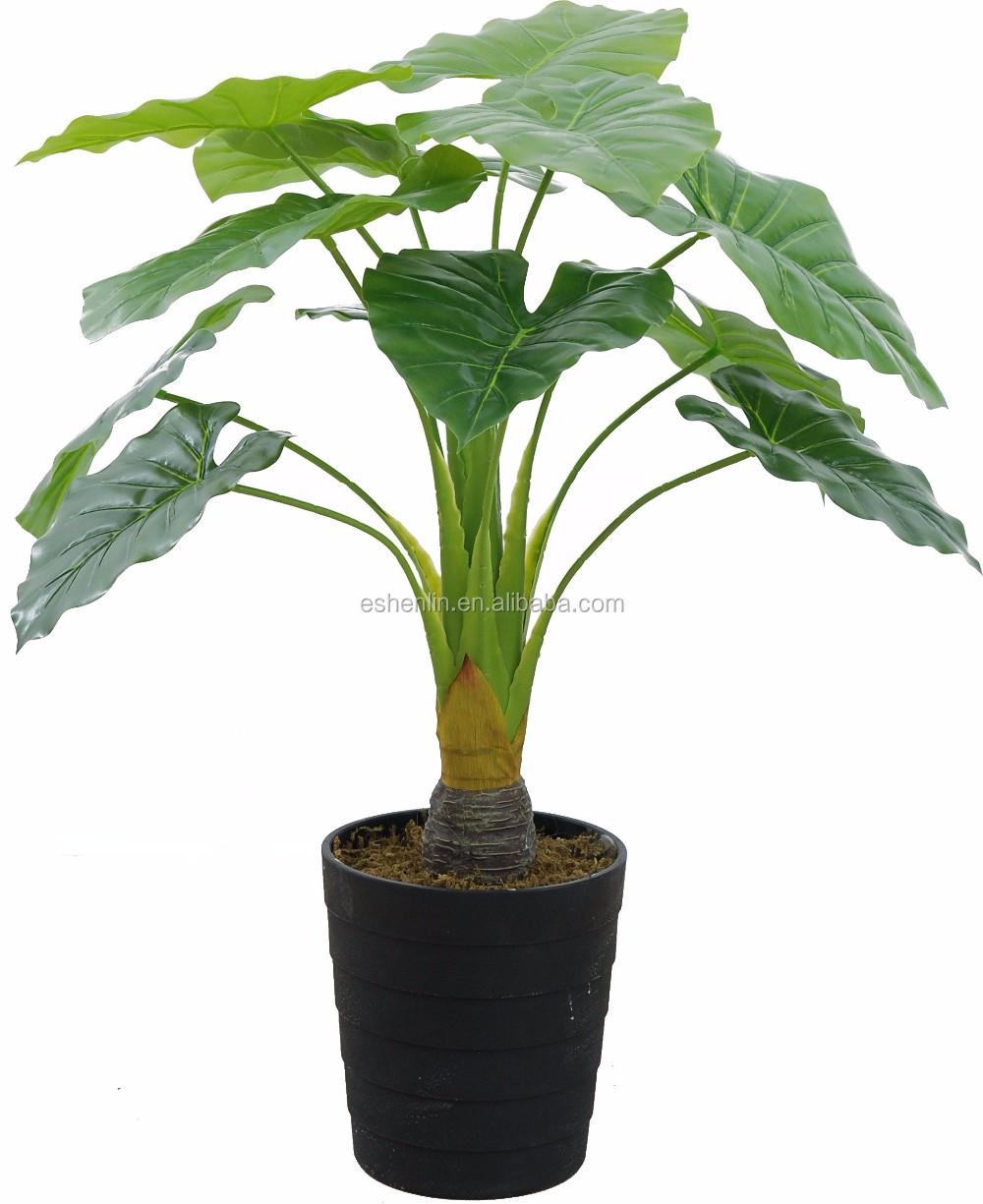 intérieur dégoulinant guanyin d'alocasia artificiel plantes lotus d