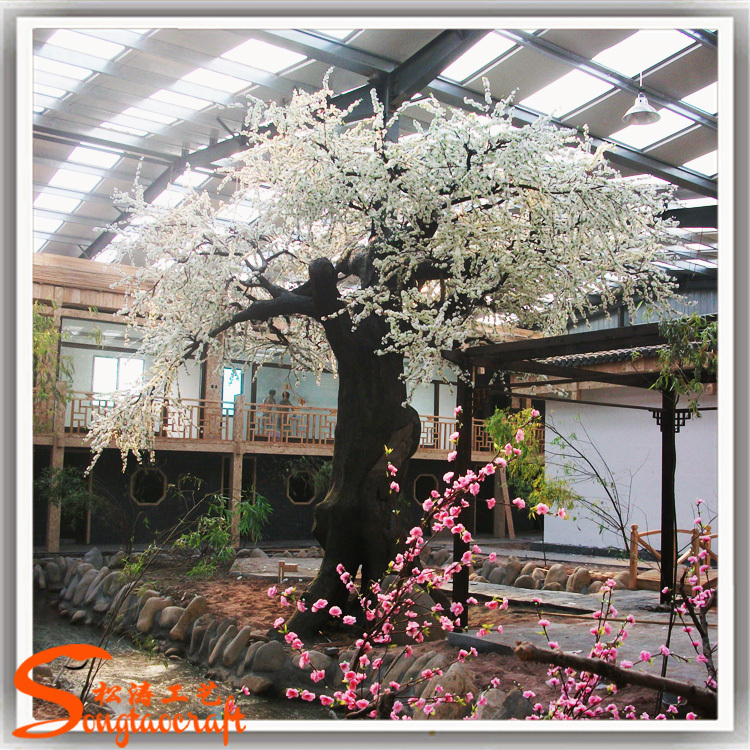 decorative trees for weddings white cherry wedding tree decor artificial cherry blossom 3464