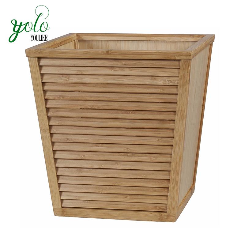 Creative Garbage Basket Holderouterdoor Waste Binbamboo Wood Kitchen Trash Can For Officestudybathroomliving Room Buy Bamboo Trash Canwood