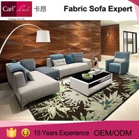 Living room furniture modern fabric designs high back sofa