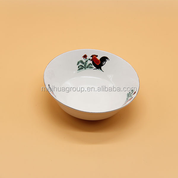 Wholesale white cock bowl,rooster bowl ,animal ceramic bowl