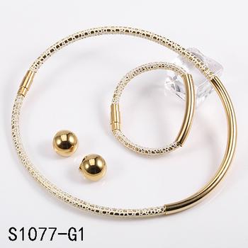 Fashion Body Saudi Gold Jewelry Bear Replica 24k Gold Plated
